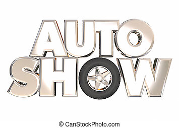 Auto Show New Model Vehicles Cars Display Exhibition 3d...