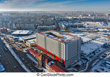 Construction site of business center in Tyumen