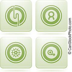 Olivine Square 2D Icons