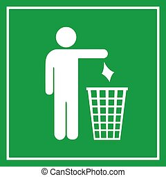 Use a trash can, no littering sign