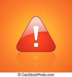 Red exclamation danger icon - Red exclamation danger vector...