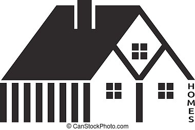 Houses for real estate business vector design
