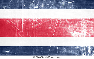 Costa Rica flag with some soft highlights and folds