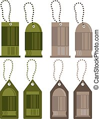 tags with bullets vector design set