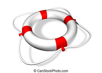 Life preserver ring - Lifebuoy ring - symbol for help -...