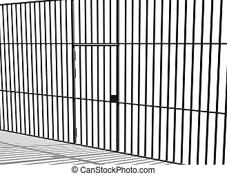 Prison bars - Illustration of prison bars and cell door