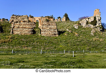 Ancient Nicopolis site at Preveza city of Greece, Avgoustus...