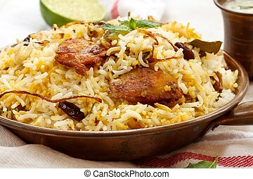 Fish Biryani Indian style fish and rice with spicy masala...