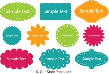 Collection of design frames Easy to edit vector image