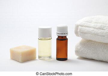 Bottles of aroma oil