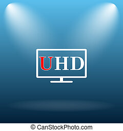 Ultra HD icon Internet button on blue background