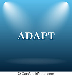 Adapt icon Internet button on blue background