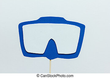 eva foam diving mask on white background