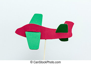 eva foam red plane on white background