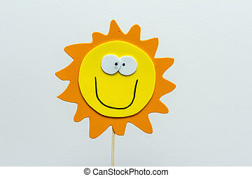 eva foam sun on white background