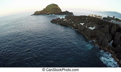 Flight over Natural Lava Pools in Porto Moniz, Madeira
