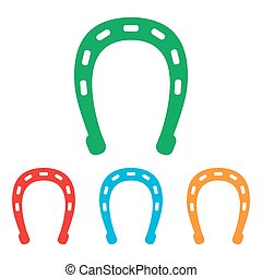 Horseshoe sign. Colorfull set