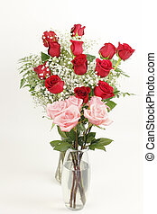 Red and Pink Rose Bouquets