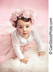 Cute toddler as a ballet dancer