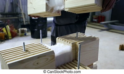 Blank for construction of laminated veneer lumber -...