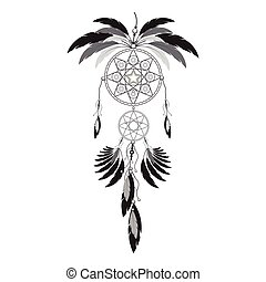 Dreamcatcher illustration on white background