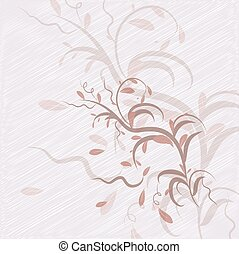 abstract beige background with leaves illustration
