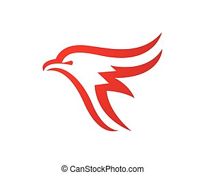 Falcon Logo Template - Falcon Eagle Bird Logo Template...