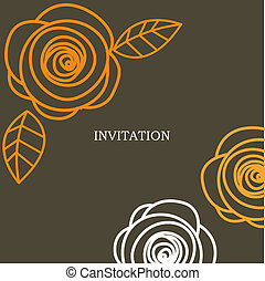 wedding invitation card illustration