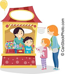 Stickman Kids Sweet Buy Candy Booth