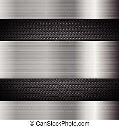 Metal perforated texture technology background. Vector...