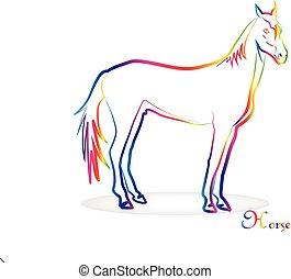 Horse vector logo