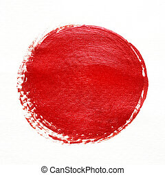 red colour texture painting on white background