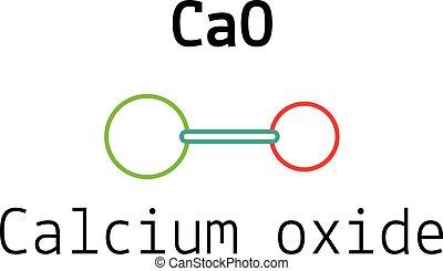 CaO calcium oxide molecule - CaO calcium oxide 3d molecule...