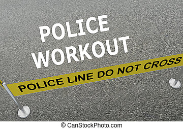 Police Workout concept - Render illustration of Police...