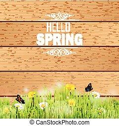 Spring in grass