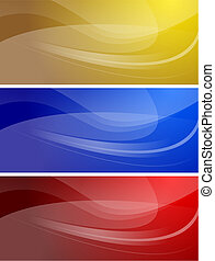 Set of wavy banners (eps 10) - Set of abstract wavy banners...