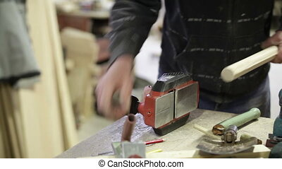 jointer electric hand process work
