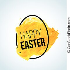 Vector minimalistic Happy Easter card / poster