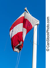 windsock without wind - a windsock without wind hangs...