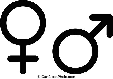 Men and women pictograms. Mars and Venus icons isolated on white