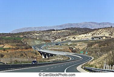 Egnatia international highway at Greece