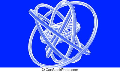 White Wire Frame Circle Abstract - Loopable White Wire Frame...