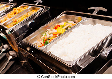 Catering buffet - Selective focus point on Catering buffet -...
