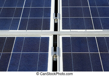 Photo voltaic panel - Modern solar photo voltaic panel close...