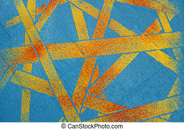 Carpet of sawdust - Artistic presentation of colorful...