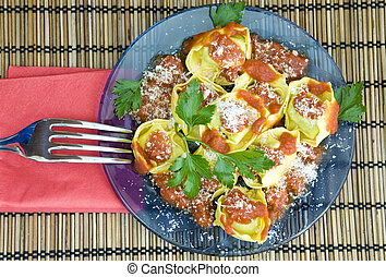 yummy tortellini - yummy and indulgent lunch