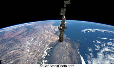 NASA earth - Created with Public Domain images from Nasa...