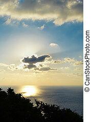 Sunset at Keri's Lighthouse, Zakynthos, Greece