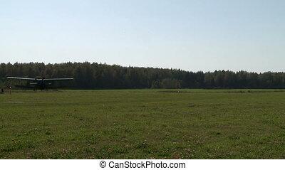 Runway in summer. View of plane takeoff - Runway in summer....