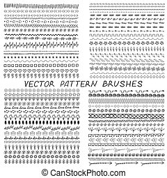 pattern brushes for design of stokes paint